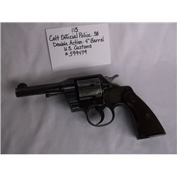 """Colt Official Police .38 -Double Action- 4"""" Barrel"""