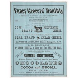 1883 Fancy Grocer Monthly Advertising Magazine Mail Ad