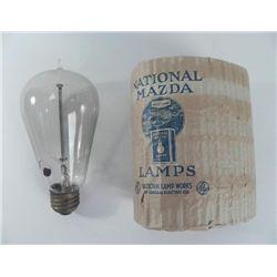 Antique ComEd Mazda Working Tip Light Bulb w/ Orig Pkg
