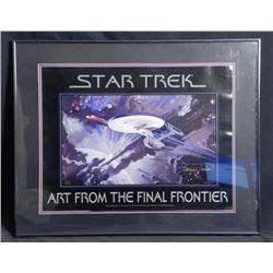 Star Trek George Takei Signed Print Final Frontier-Frmd