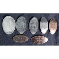 7 Different 1967 Elongates Some Silver