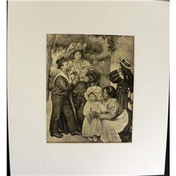 La Famille du Peintre Engraving Pierre-Auguste Renoir