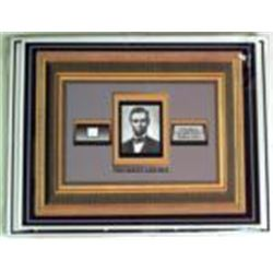 Matted Tiny Speck of Abraham Lincoln's Hair COA Abe
