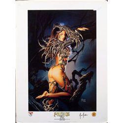Witchblade Art Print Singed by Joe Jusko