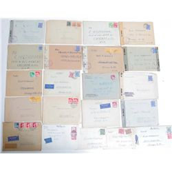 Lot of 21 Letters Different Berlin WWII Military Zones