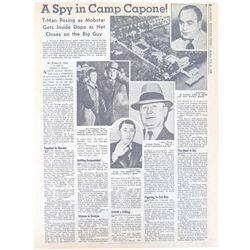 A Spy in Camp Capone Newspaper Headline Rocky Mountain