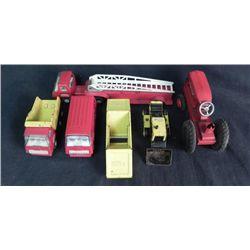 1 Lot of 6 Tonka Trucks Fire Truck Tiny Van More