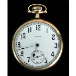1922 Elgin Gold Filled Antique Pocket Watch 15j 14s