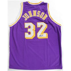 Magic Johnson Signed Lakers Basketball Jersey LOA