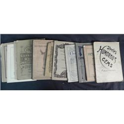 12 Complete Published 1890's Song Music Books