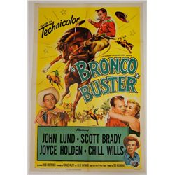 Bronco Buster Vintage Movie Poster Scott Brady 1952