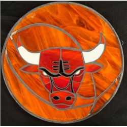 Chicago Bulls Stained Glass Basketball Art Pinkhasik