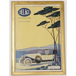 Antique Delage La Voiture Chic Automobile Ad Luxury Car
