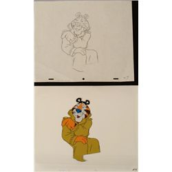 Trench Coat Tony The Tiger Cel Drawing Orig Animation