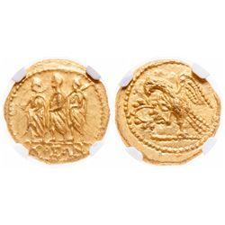 Thracian or Scythian. AV Stater. 54 BC. NGC Mint State; Strike: 4/5, Surface: 5/5.