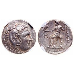 Ionia, Miletus. AR Tetradrachm. EARLY 3RD CENTURY. NGC Mint State; Strike: 4/5, Surface: 5/5.