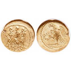 Roman Empire. AV Stater. 44-42 BC. NGC Brilliant Uncirculated.