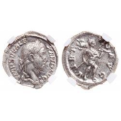 Roman Empire. AR Denarius. AD 222-235. NGC Choice Mint State; Strike: 5/5, Surface: 5/5.