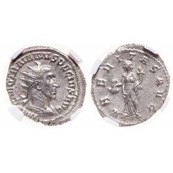 Roman Empire. AR Double-Denarius. AD 249-251. NGC Mint State; Strike: 5/5, Surface: 5/5.