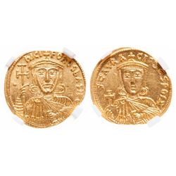 Byzantine Empire. AV Solidus. AD 803-811. NGC Choice Mint State; Strike: 5/5, Surface: 5/5.