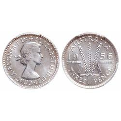 Australia. 3 Pence. 1956(M). PCGS PR-66.