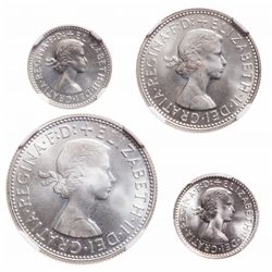 Australia. Lot of four (4) proof coins of Elizabeth II.