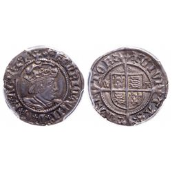 Great Britain. Half Groat (2 Pence). 1526-1532. PCGS AU-55.