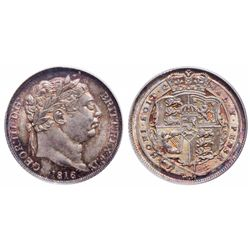 Great Britain. 6 Pence. 1816. PCGS MS-66.