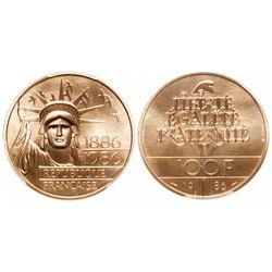 France. 100 Francs. 1986. PCGS MS-69.