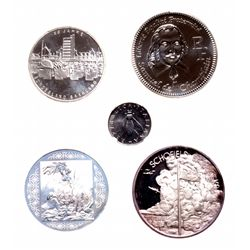 Lot of five (5) commemoratives.