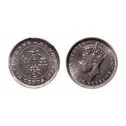 Hong Kong. 5 Cents. 1939 KN. PCGS SP-65.