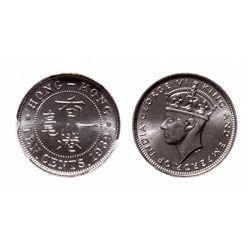Hong Kong. 10 Cents. 1939 KN. PCGS SP-65.
