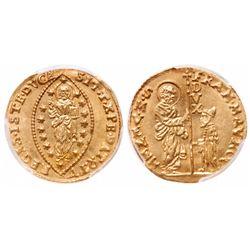 Italy. 1 Zecchino. 1688-1694. Fr.1347. PCGS MS-64.