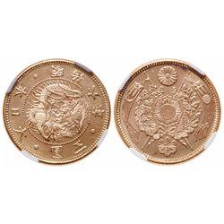 Japan. 5 Yen. 1873. NGC MS-65.