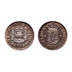 Mexico. 1/2 Reals. 1753 MO M. PCGS MS-63.