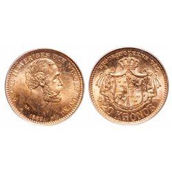 Sweden. 20 Kronor. 1889 EB. PCGS MS-66.
