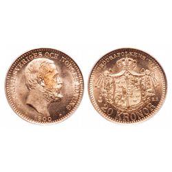 Sweden. 20 Kronor. 1900 EB. PCGS MS-66.