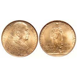 Vatican. 100 Lira. 1933-1934. PCGS MS-65.