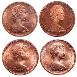 1 Cent. Lot of 4 ICCS graded 1965 cents.