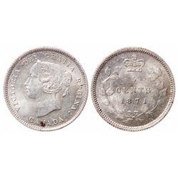 5 Cents. 1871. ICCS MS-65.