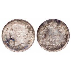 5 Cents. 1885. Large 5. ICCS MS-65.