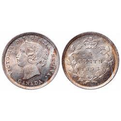 5 Cents. 1893. ICCS MS-65.
