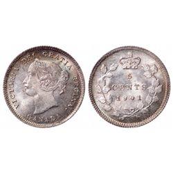 5 Cents. 1901. ICCS MS-65.