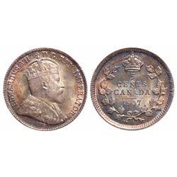 5 Cents. 1907. ICCS MS-65.