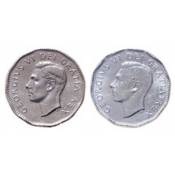 Lot of 2 ICCS George VI 5 cents.