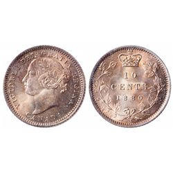 10 Cents. 1880-H. Obv 2. ICCS MS-66.
