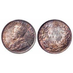 25 Cents. 1921. ICCS MS-65.