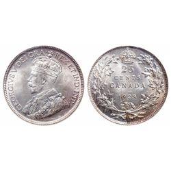25 Cents. 1928. ICCS MS-65.