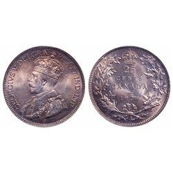 25 Cents. 1929. ICCS MS-65.