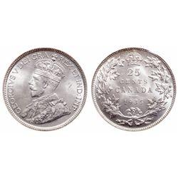 25 Cents. 1935. ICCS MS-65.